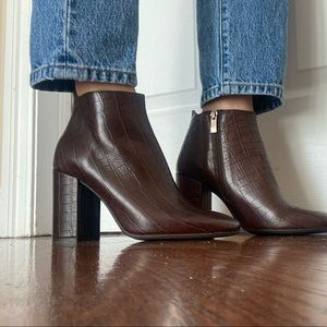 🤎 Brown leather booties